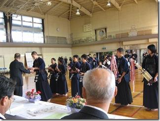 金田剣友会の表彰式