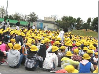 金田小学校生徒。